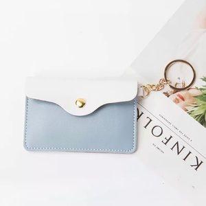 Handbags - Faux Leather Keychain Mini Wallet